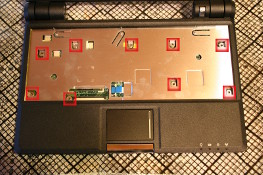 Eee PC 4G (701) - Remove the 9 screws